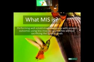 Evidence for MIS surgery enhancing patient safety and improving outcomes
